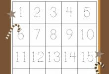 Tracing Numbers Worksheets 1-20 6