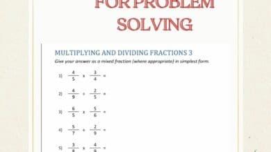 Using Fractions Worksheets for Problem Solving 2