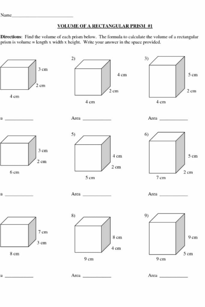Volume Word Problems Worksheets 5