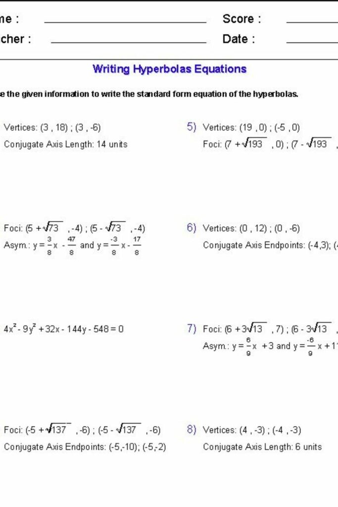 Writing Algebraic Equations From Word Problems Worksheets 3