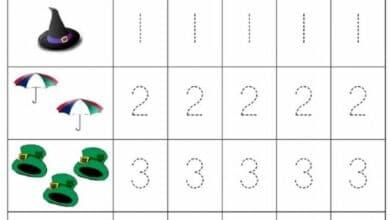Traceable Numbers Worksheet - Free Kindergarten Math Worksheet for Kids