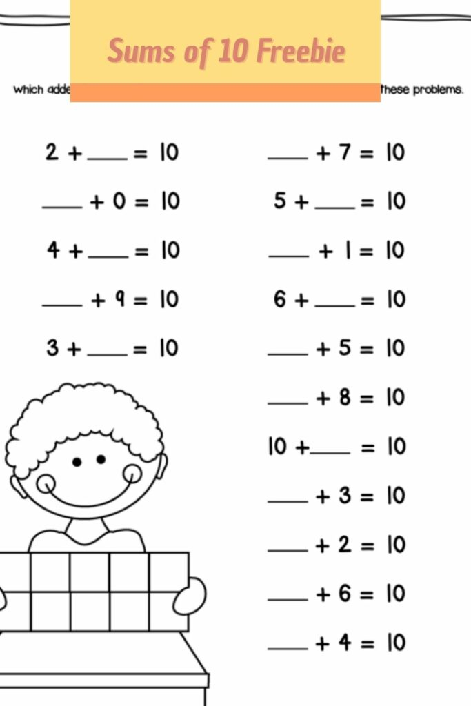 Sums of 10 Worksheet