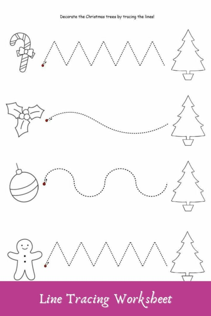 Simple Line Tracing Worksheets