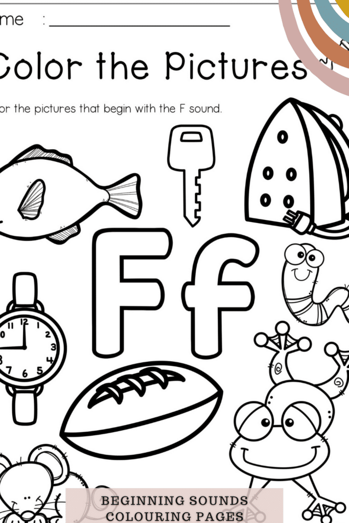 Beginning Sounds Colouring Pages Printable Worksheets