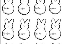 Easter Numbers Worksheet - Free Kindergarten Holiday Worksheet for Kids