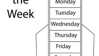 Free Printable Worksheets Days of the Week