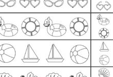 FREE Printable Beach Worksheets for Preschool