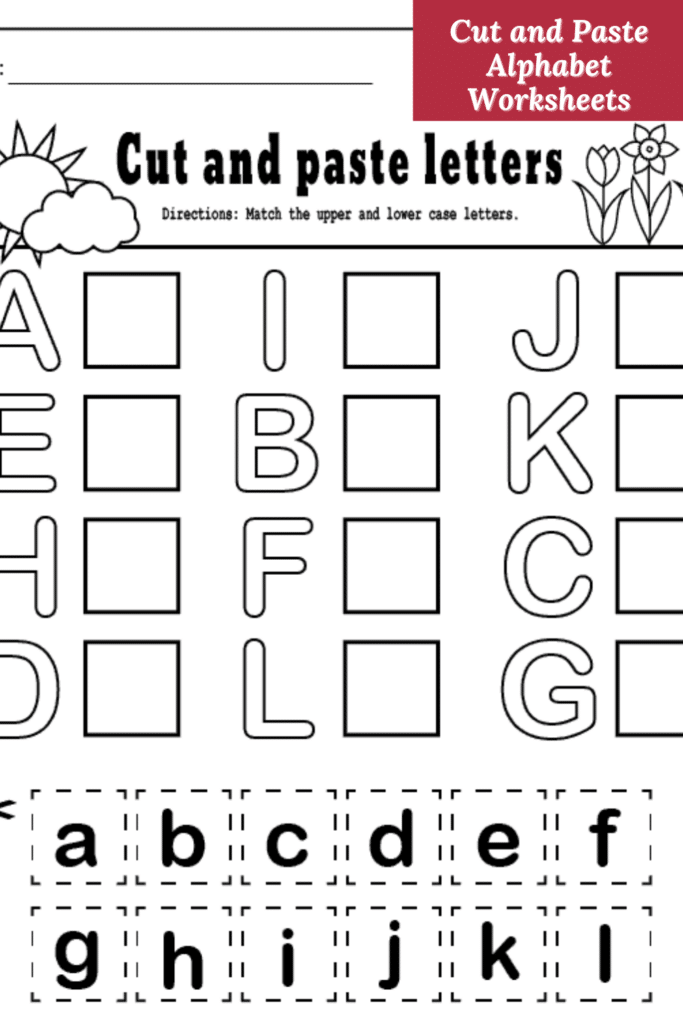 Cut and Paste Alphabet Worksheets for Preschool