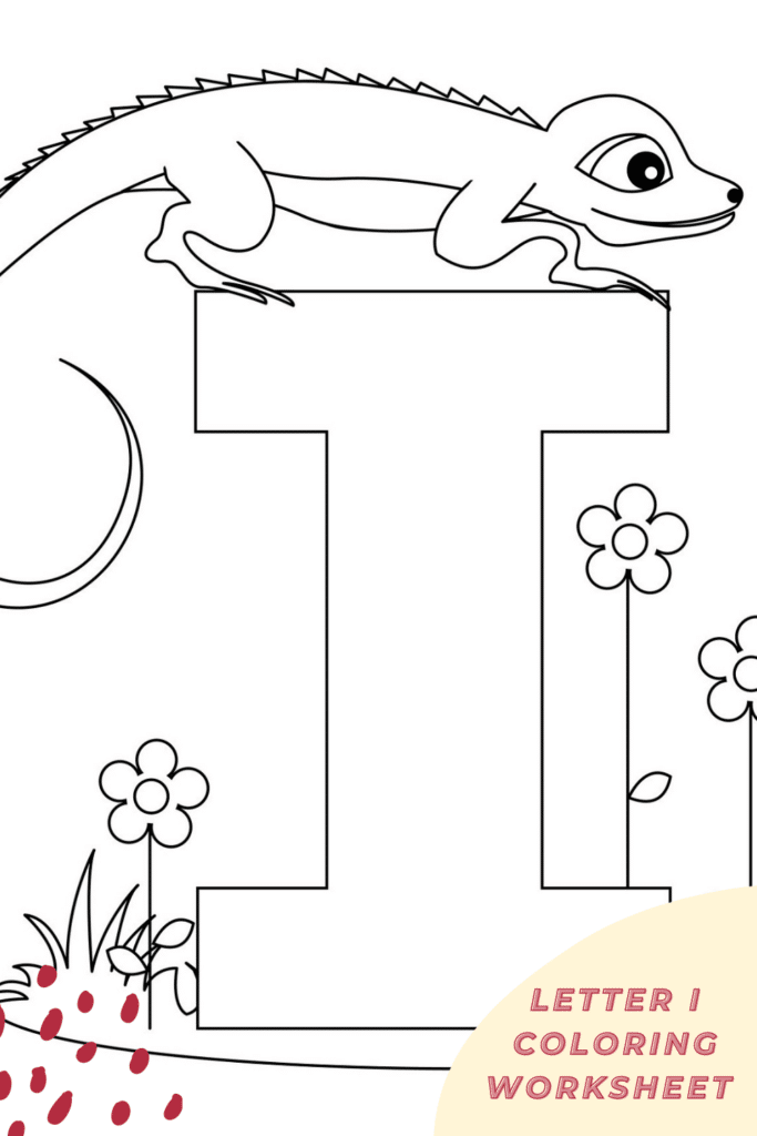 Letter I am Coloring Pages for Preschool