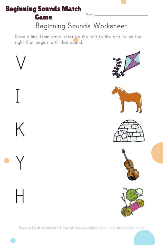 Matching Beginning Sounds with Pictures