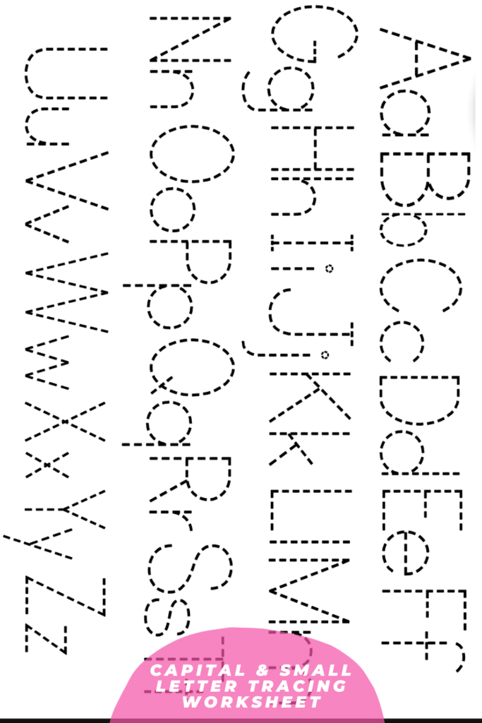 Capital and Small Letter Matching Worksheet