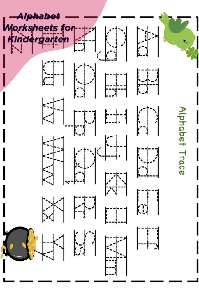 Tracing the Alphabet Worksheets for Kindergarten