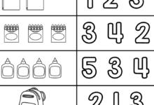 Kindergarten Back to School Math and Literacy Worksheet
