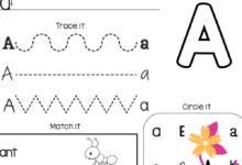 Learning the Alphabet Worksheet
