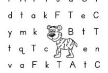Alphabet Letter T Hunt Worksheets