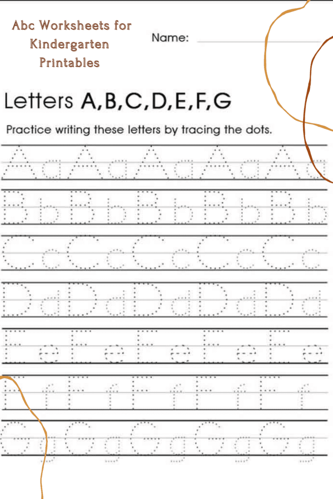 Abc Traceable Worksheets