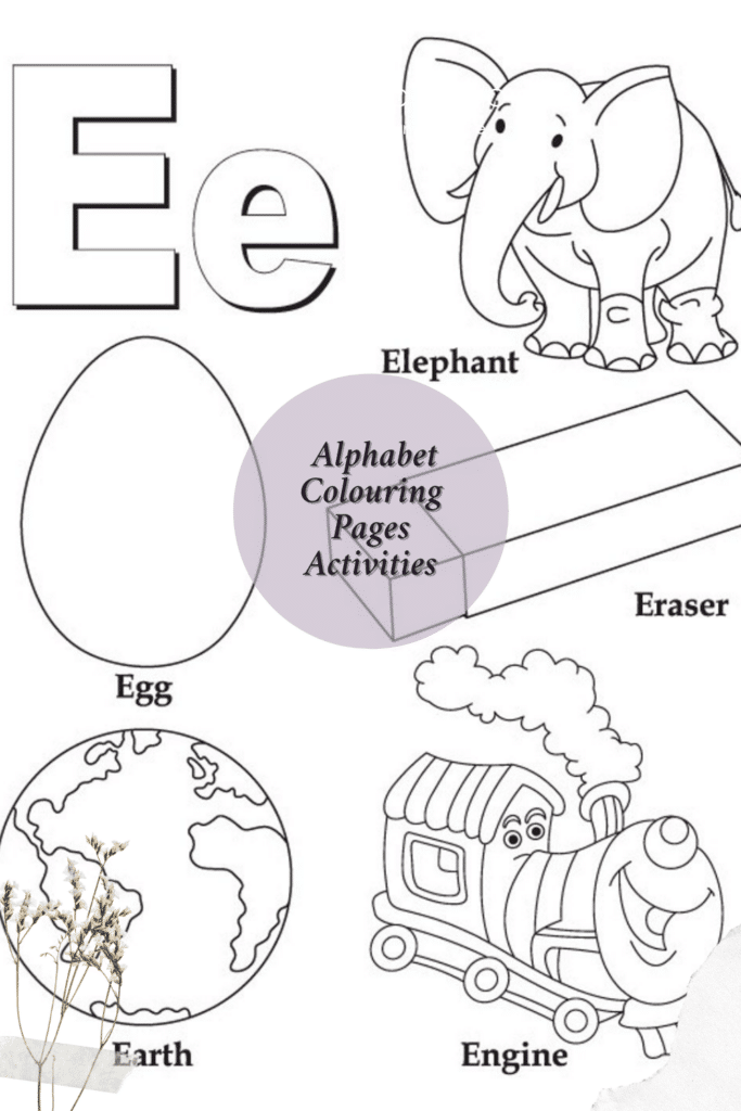 Alphabet Colouring Pages for Preschoolers