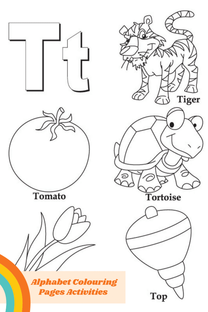 Alphabet Colouring Pages for Toddlers