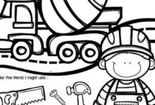 Create a Free Preschool Construction Theme Printable Worksheet
