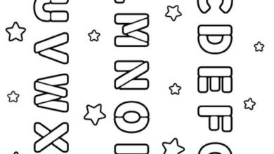 Free Alphabet Coloring Worksheet for Kids