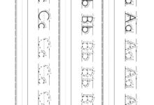 Free Printable Preschool Alphabet Handwriting Worksheets for Kids