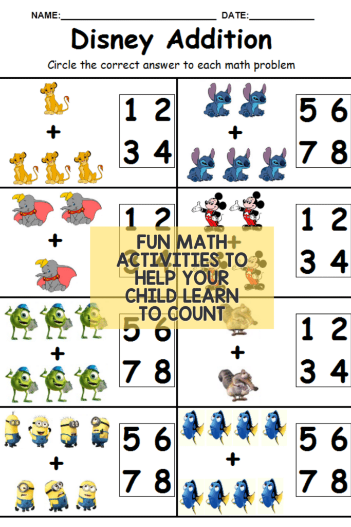 Fun math activities to help your child learn to count