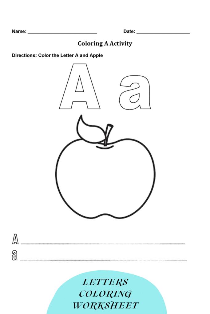 Letters Coloring Worksheet