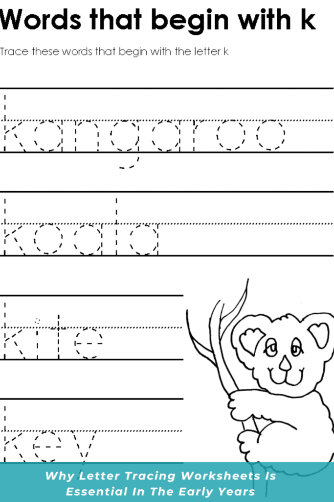 Why Letter Tracing Worksheets Is Essential In The Early Years