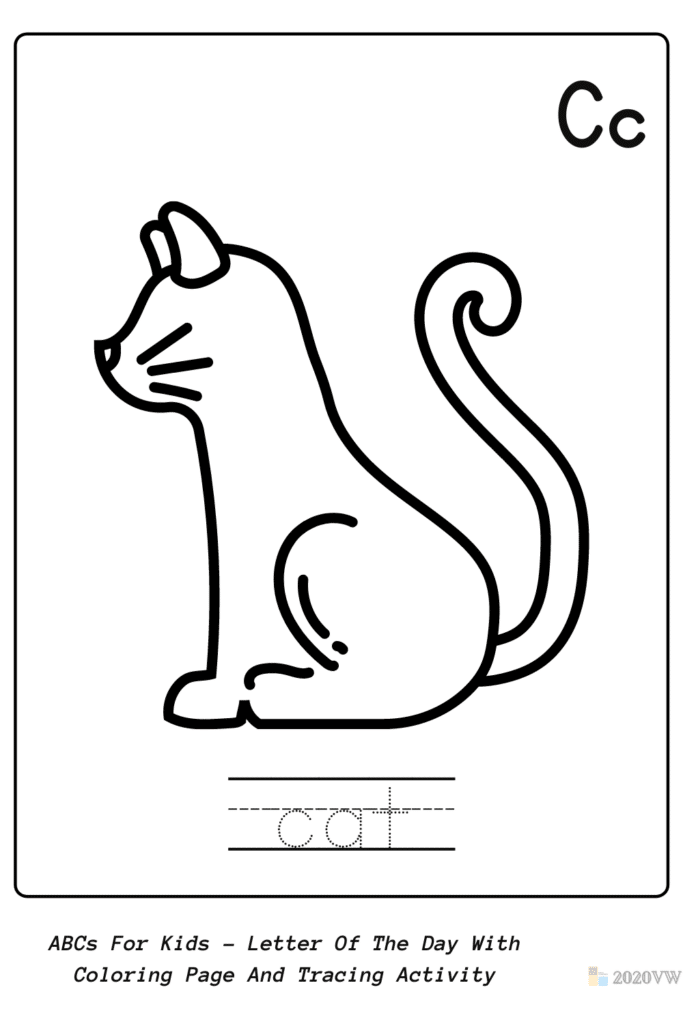 ABCs For Kids - Letter Of The Day With Coloring Page And Tracing Activity