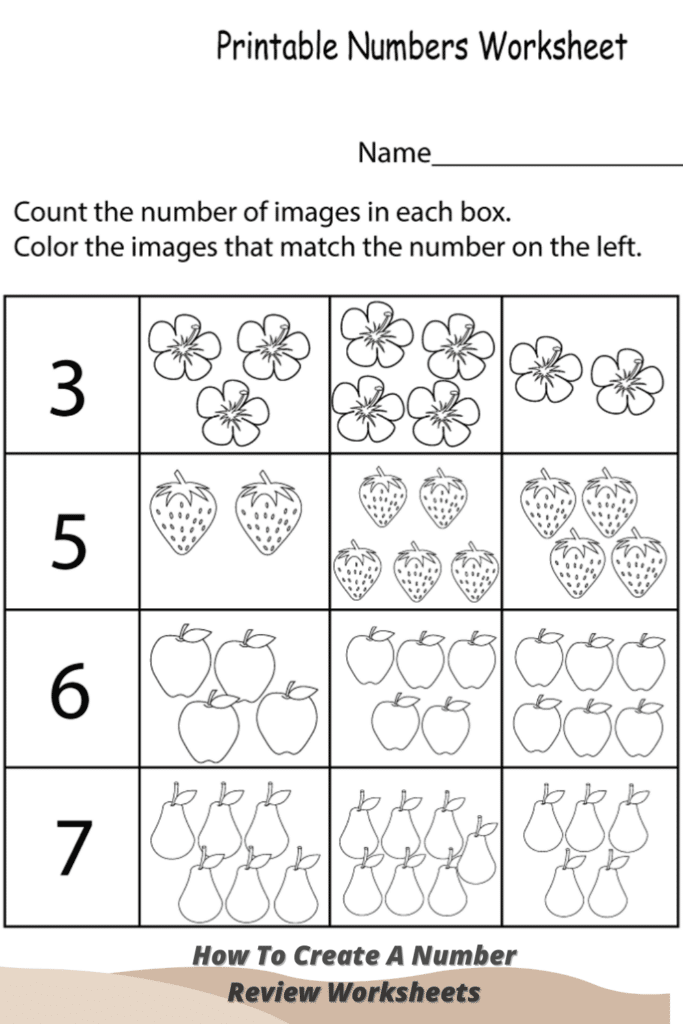 How To Create A Number Review Worksheets