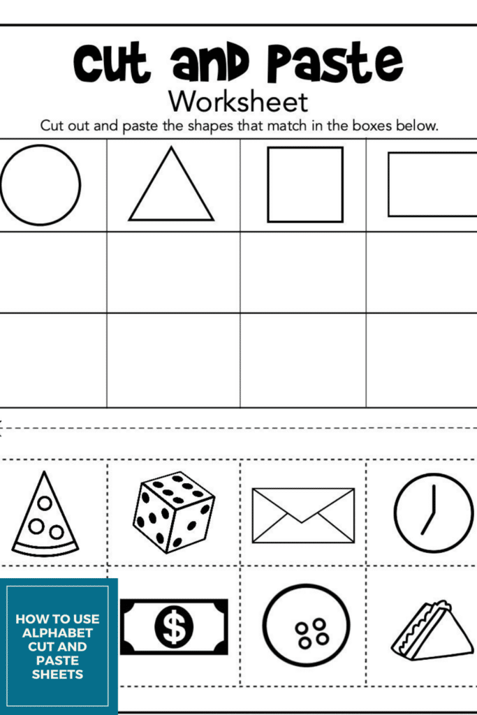 How to Use Alphabet Cut and Paste Sheets