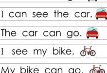 Learn Letters with Sight Words_ Kindergarten Alphabet Sentences Worksheets