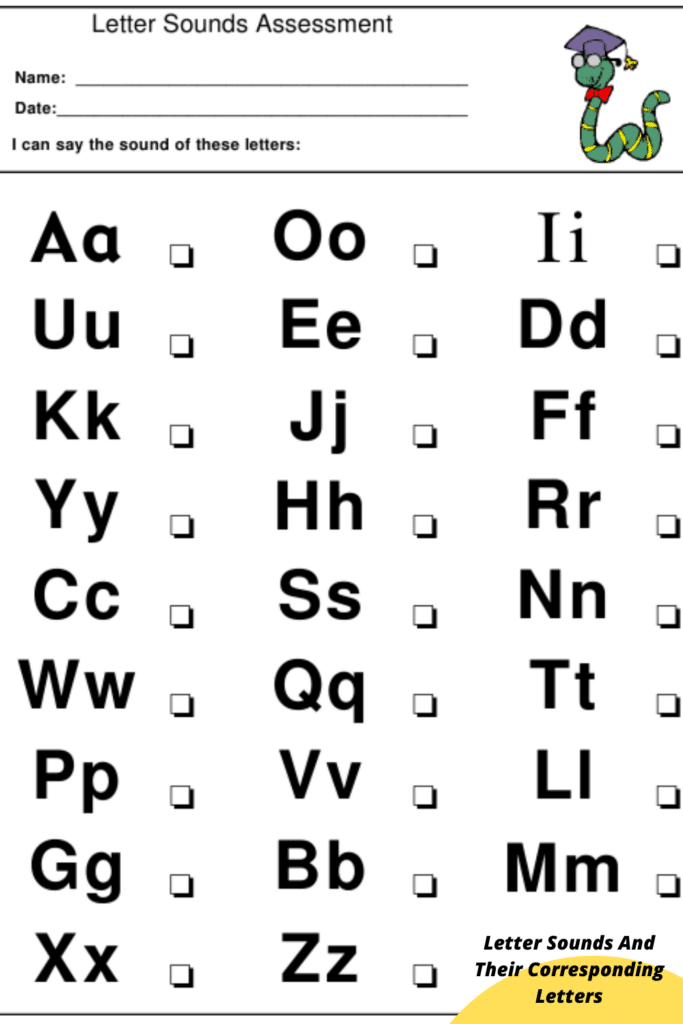 Letter Sounds And Their Corresponding Letters