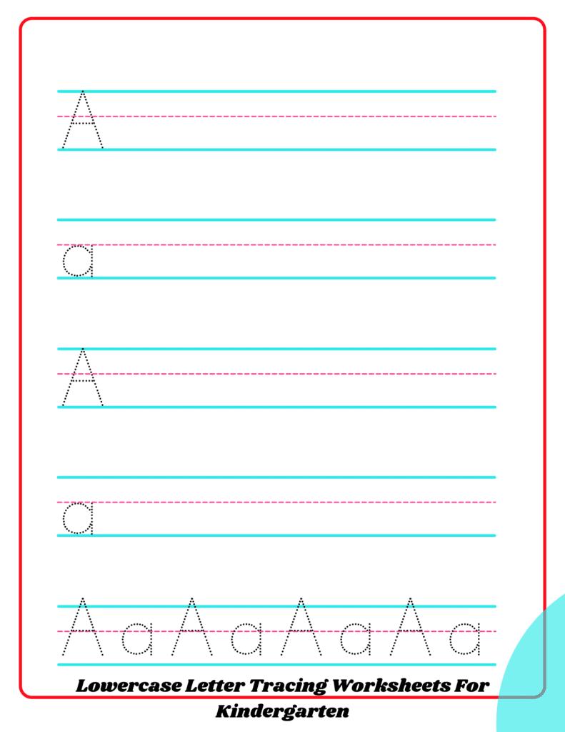 Lowercase Letter Tracing Worksheets For Kindergarten