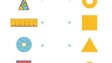 Preschool Fun_ Number Shape Matching Worksheets