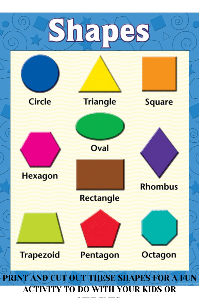Print and cut out these shapes for a fun activity to do with your kids or students.
