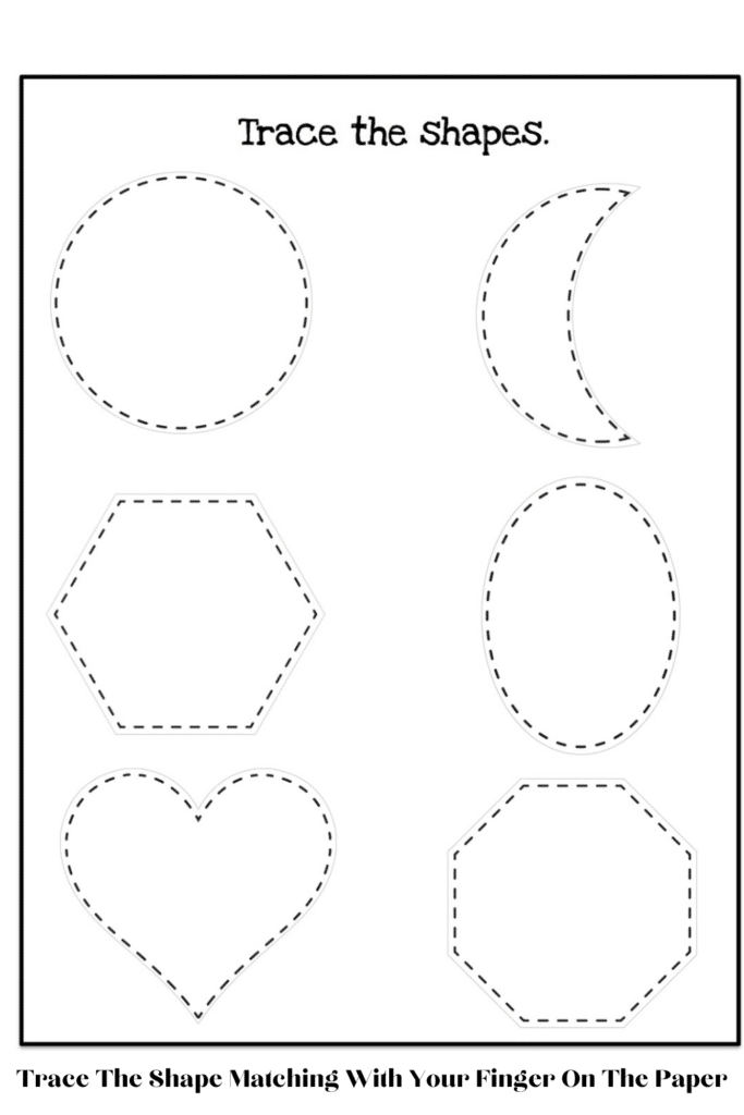Trace The Shape Matching With Your Finger On The Paper