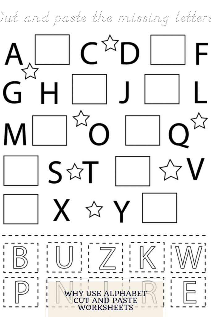 Why use Alphabet Cut and Paste Worksheets