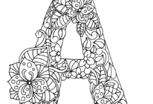 A craft for kids- Alphabet Trace and Coloring Worksheets