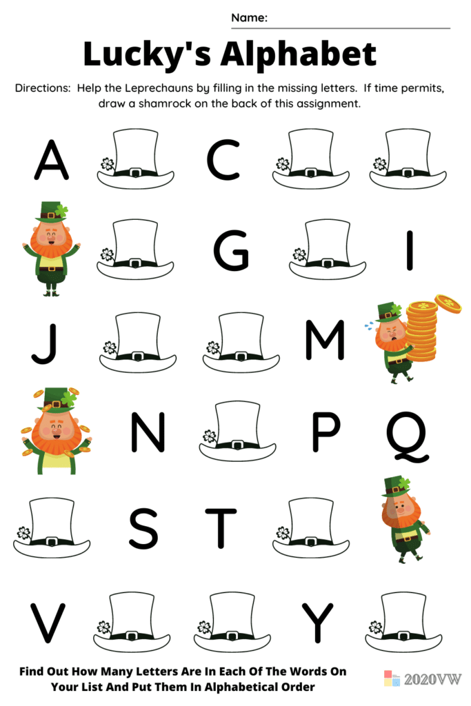 ABC Order - Find Out How Many Letters Are In Each Of The Words On Your List And Put Them In Alphabetical Order