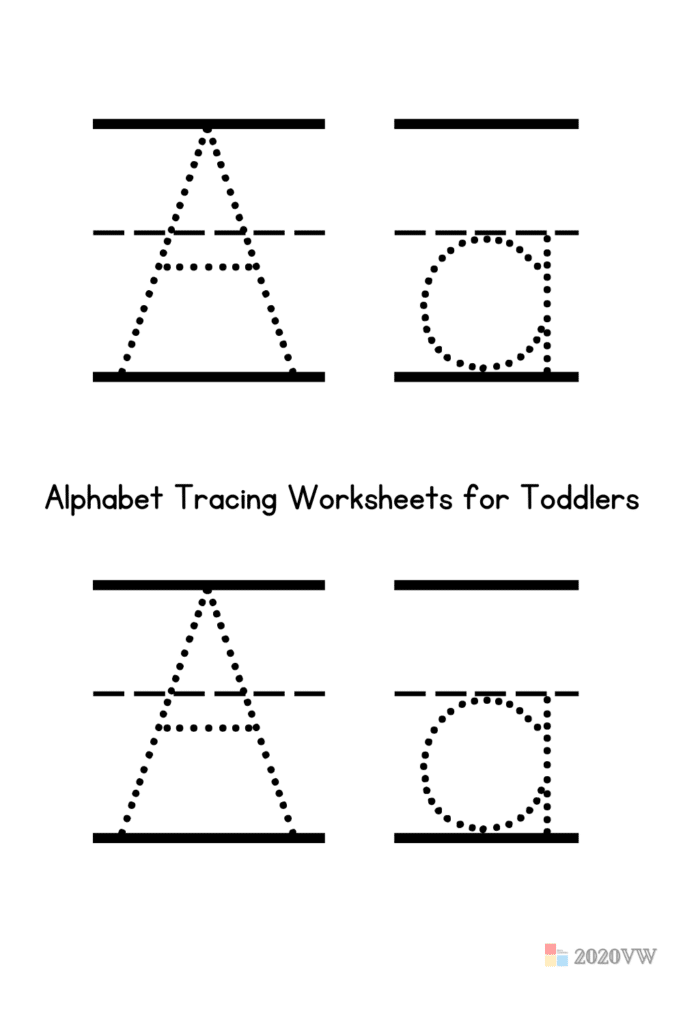 Alphabet Tracing Worksheets for Toddlers