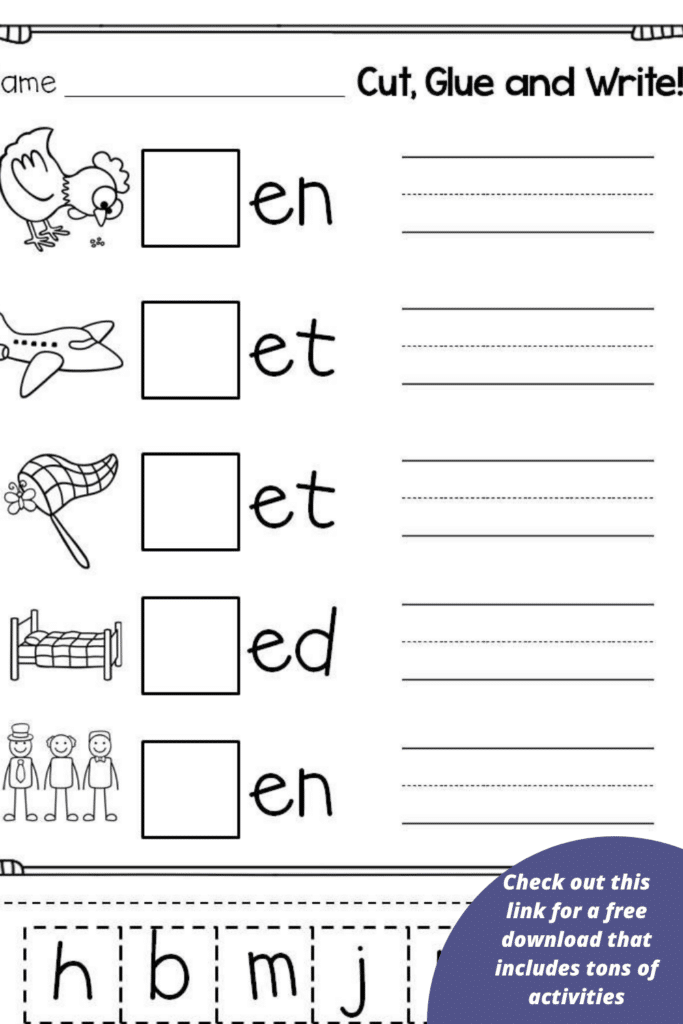 Check out this link for a free download that includes tons of activities to help your child get ready for school.
