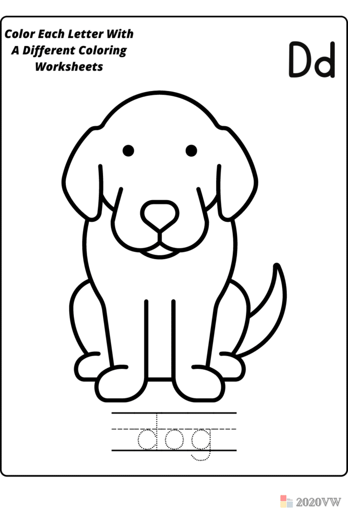 Color Each Letter With A Different Coloring Worksheets