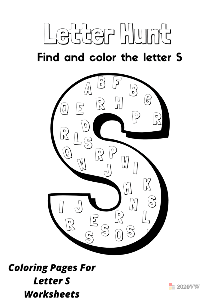 Coloring Pages For Letter S Worksheets