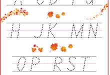 Free Printable Alphabet Tracing Worksheets A-Z for Kindergarten