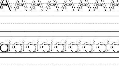 Free Printable Alphabet Tracing Worksheets Letter A