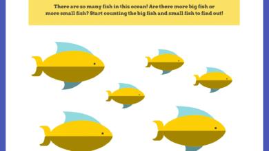 Fun Ocean Animal Math and Writing Worksheets for PreK