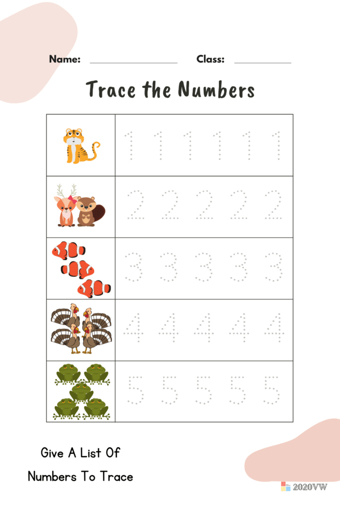 Give A List Of Numbers To Trace