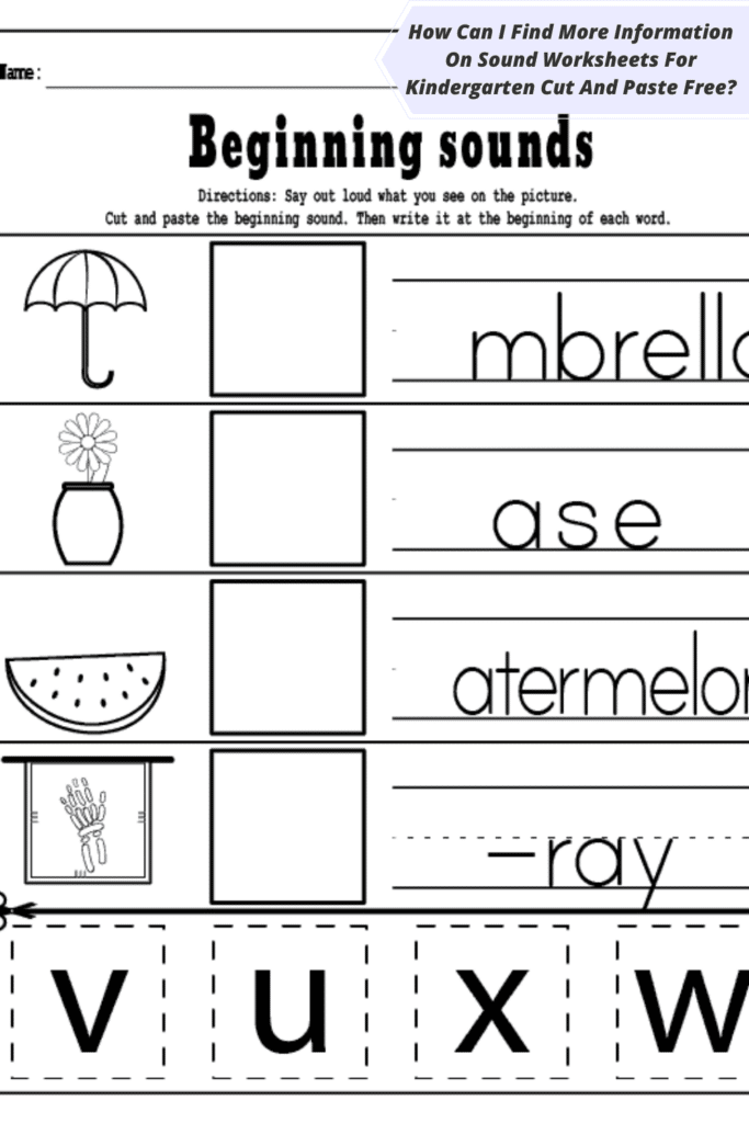 How Can I Find More Information On Sound Worksheets For Kindergarten Cut And Paste Free_