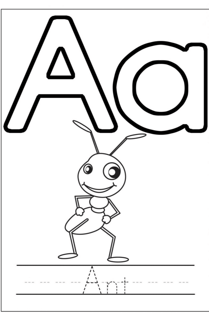 Letter A Coloring Pages Printable for Kids